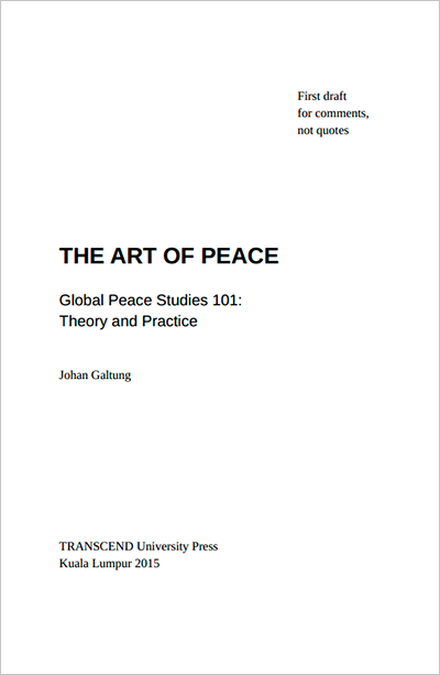 The Art of Peace draft cover