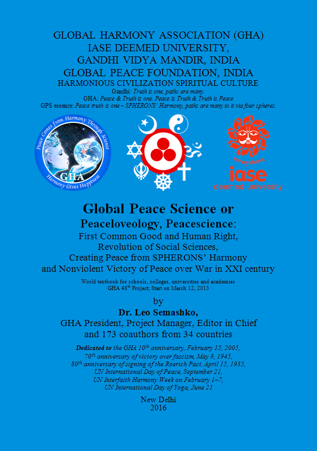 Global Peace Science. Front cover